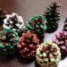 クリスマスツリーを作る~松ぼっくりでミニツリー~